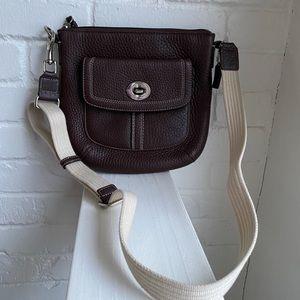 Coach Hamilton Brown Leather Crossbody Bag
